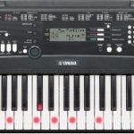 Yamaha EZ-220 Digital Keyboard (61 anschlagdynamische Tasten mit Beleuchtung) inkl.Netzteil